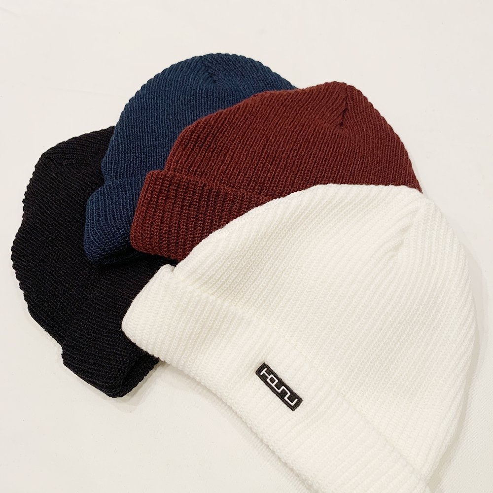 Box Logo Embroidery Knit Cap/White,Black,Wine,Navy