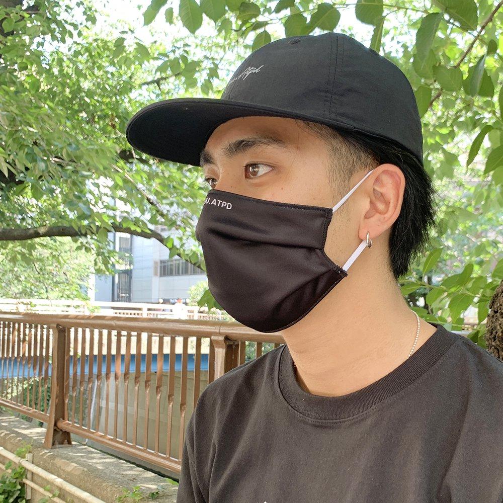 《抗菌・防臭・吸汗速乾 DRYマスク》アンチバクテリアルマスク/ブラック