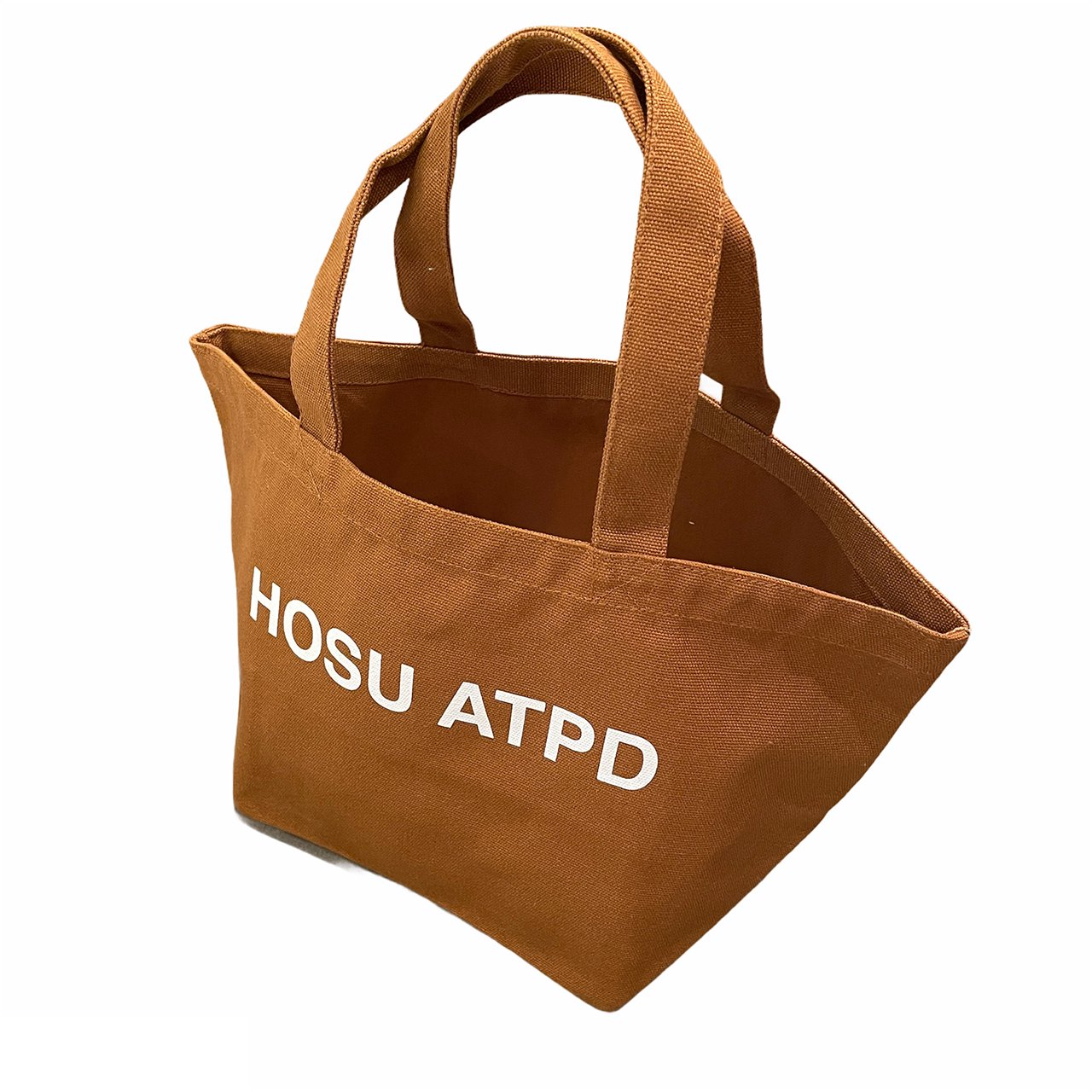 HOSU ロゴプリントランチバッグ/アイボリー、キャメル、ブラック