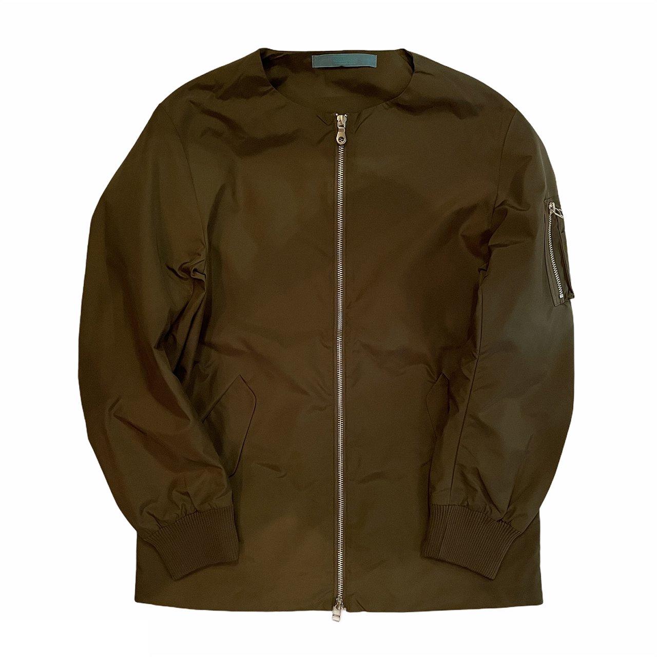 《30%OFF》HOSU ノーカラーMA-1ジャケット/カーキ、ネイビー、ホワイト