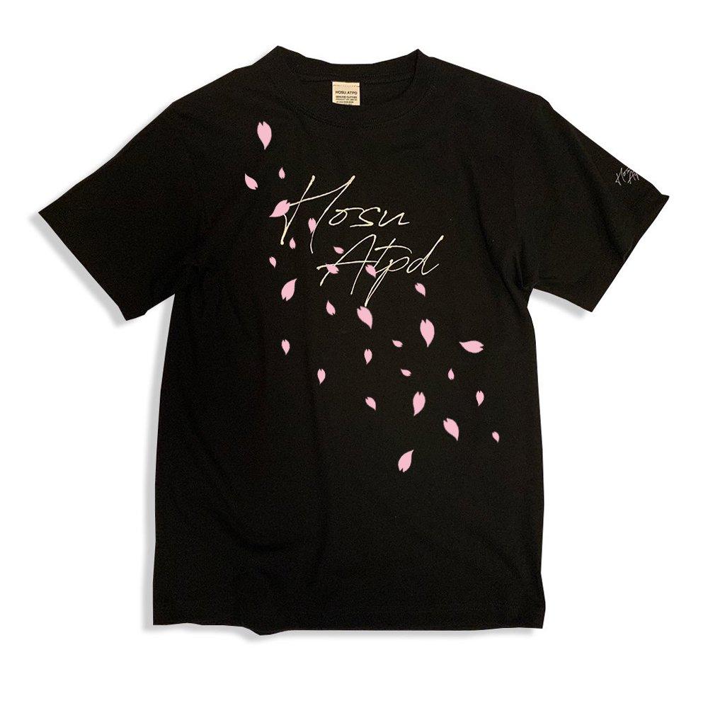 《予約商品》HOSU 桜ロゴプリントTシャツ/ホワイト、ブラック