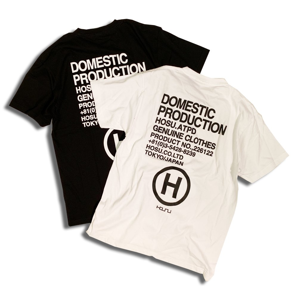 HOSU LOGO BACK PRINT T-SHIRT/WHITE,BLACK<img class='new_mark_img2' src='//img.shop-pro.jp/img/new/icons7.gif' style='border:none;display:inline;margin:0px;padding:0px;width:auto;' />