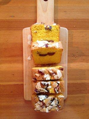 かぼちゃと杏のケーキ