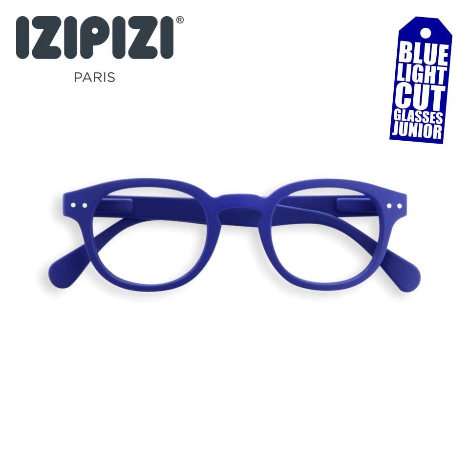 【IZIPIZI / イジピジ】 SCREEN JUNIOR #C / スクリーン・ジュニア・シー (ネイビーブルー)|旧See Concept,ボスリントン,子供用PCメガネ