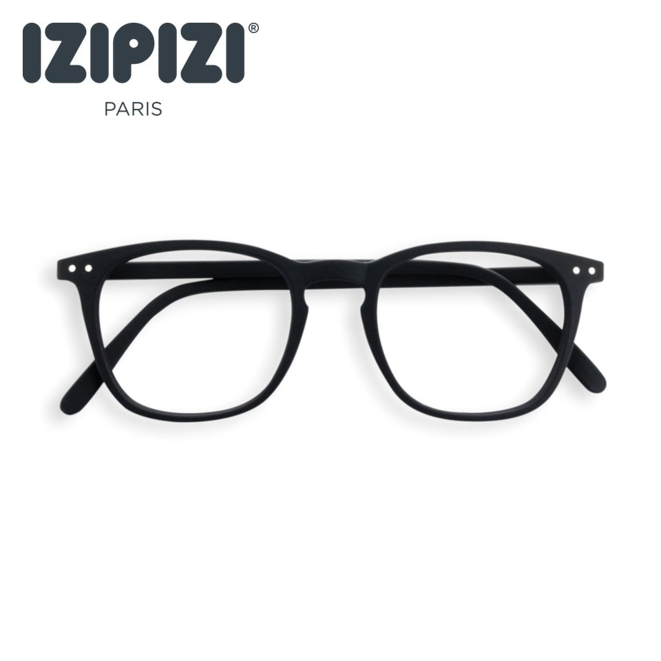 【IZIPIZI】READING #E BLACK|旧See Concept,イジピジ・リーディング・イー(ブラック)|ウェリントン,大きい,リーディンググラス,既成老眼鏡