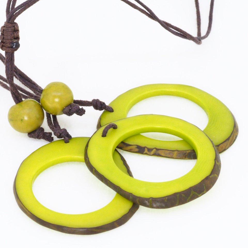Tagua(タグア)7連ネックレス兼グラスホルダー Green2