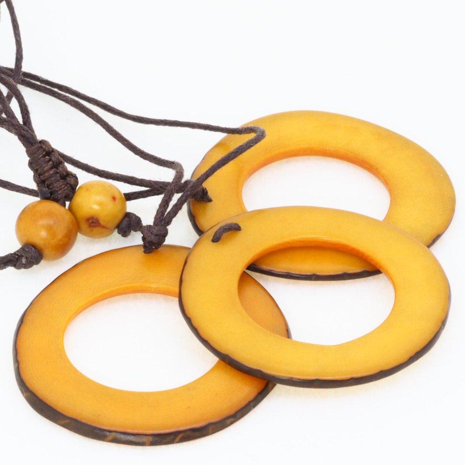 Tagua(タグア)7連ネックレス兼グラスホルダー Yellow1