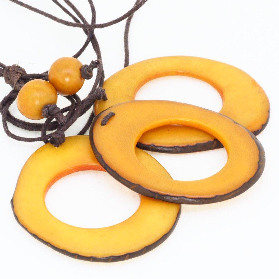 Tagua(タグア)7連ネックレス兼グラスホルダー Yellow2
