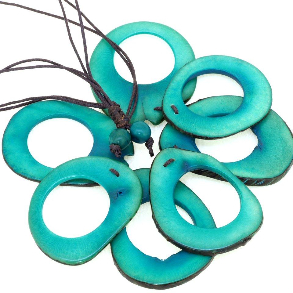 Tagua(タグア)7連ネックレス兼グラスホルダー Blue2