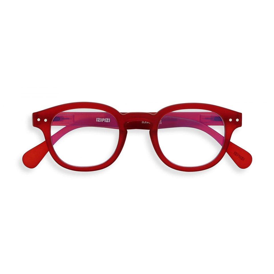 【IZIPIZI / イジピジ】 SCREEN READING #C / スクリーン・リーディング・シー (レッド)|ブルーライトカット,既成老眼鏡