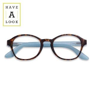 【HAVE A LOOK】READING GLASSES CIRCLE (horn/blue)|ハブアルック・リーディンググラス・サークル(ホーン/ブルー)|既成老眼鏡