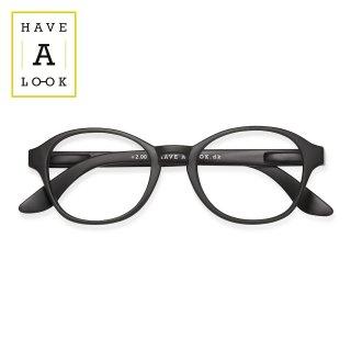 【HAVE A LOOK】READING GLASSES CIRCLE (black)|ハブアルック・リーディンググラス・サークル(ブラック)|既成老眼鏡