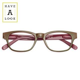 【HAVE A LOOK】READING GLASSES MOOD (olive/plum)|ハブアルック・リーディンググラス・モード(オリーブ/プラム)|既成老眼鏡