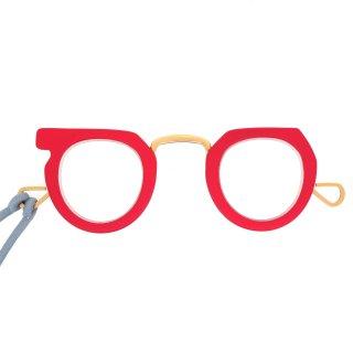 【JUJUBEE】Ciqi Peep Glasses (Red)|ジュジュビー・シキ・ピープ・グラス (レッド)|手持ち老眼鏡,リーディンググラス