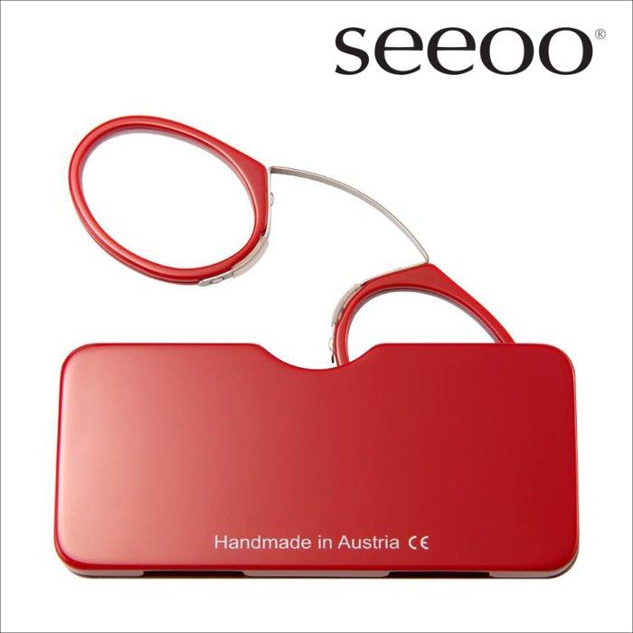 【seeoo / シーオ】 classic (レッド) | 鼻眼鏡,老眼鏡,リーディンググラス