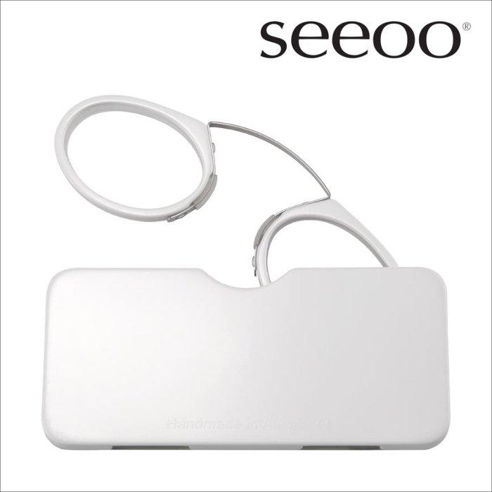 【seeoo / シーオ】 classic (ホワイト)   鼻眼鏡,老眼鏡,リーディンググラス