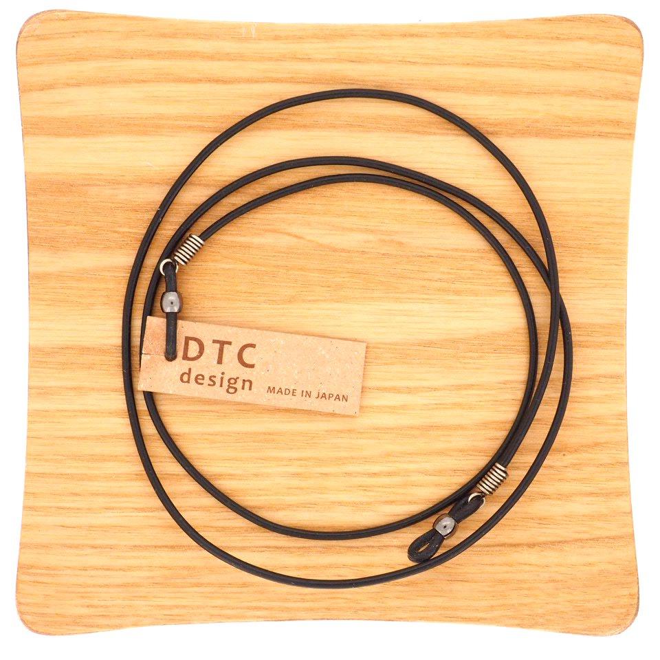 【DTC design / ディーティーシーデザイン】 ギリシャ製 丸革レザーコード (ブラック) | グラスコード