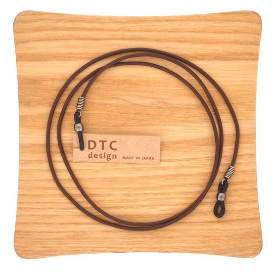 【DTC design / ディーティーシーデザイン】 ギリシャ製 丸革レザーコード (ブラウン) | グラスコード