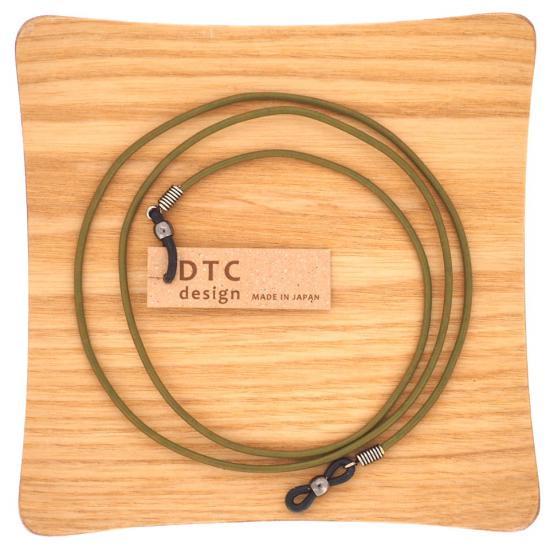 【DTC design / ディーティーシーデザイン】 ギリシャ製 丸革レザーコード (グリーン) | グラスコード