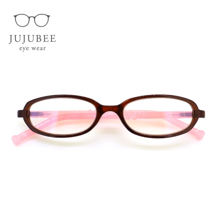 【JUJUBEE / ジュジュビー】 LOUGAN'S Clare PC / ローガンズ・クレア・ピーシー (ブラウン・ピンク) | 既成老眼鏡,リーディンググラス