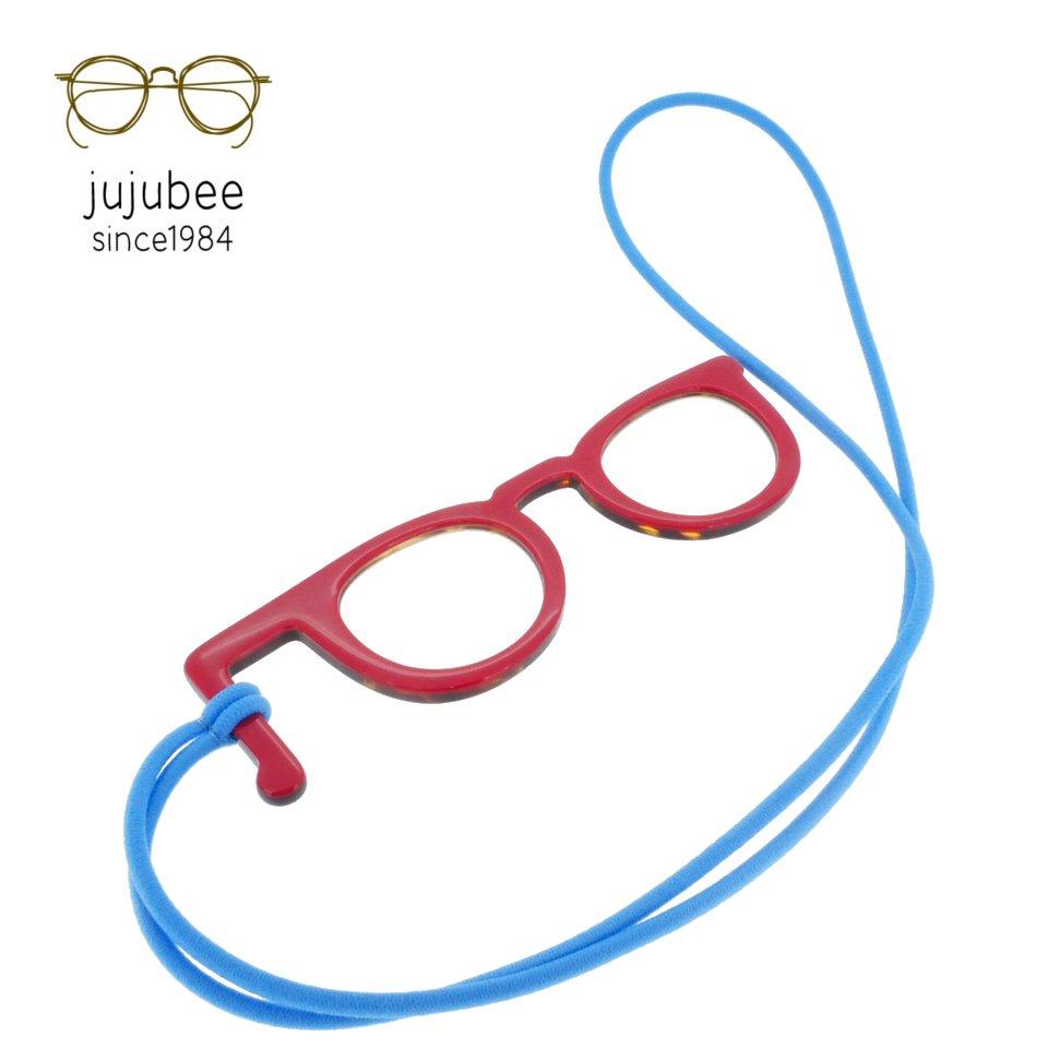 【JUJUBEE / ジュジュビー】 Peep Glasses / ピープ・グラス (デミ・レッド)   手持ち老眼鏡,リーディンググラス