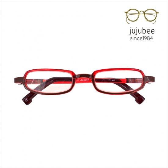 【JUJUBEE / ジュジュビー】 LOUGAN'S Tomi / ローガンズ・トミー (レッド) | 既成老眼鏡,リーディンググラス