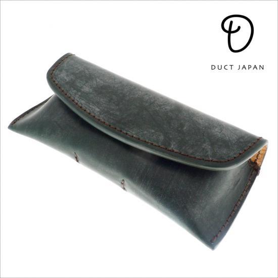 【DUCT / ダクト】 メガネケース 牛革ブライドル BL171 (グリーン) | レザー,革,イギリス