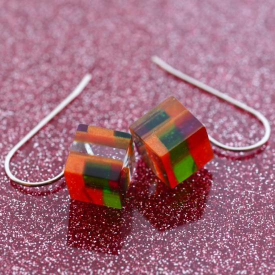 【Dirocca / ディロッカ】 Pierced earrings キューブ No.05 | ピアス,メガネ素材アクセサリー