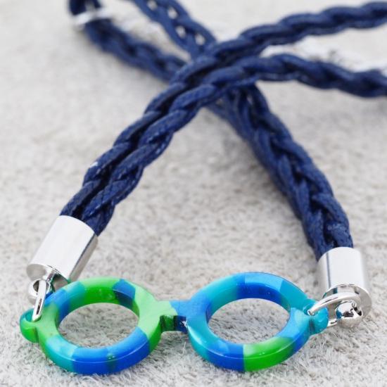 【Bonny L. / ボニーエル】 メガネ型ブレスレット ラウンド (ブルー) | メガネモチーフアクセサリー