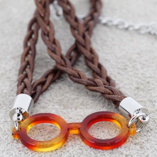 【Bonny L. / ボニーエル】 メガネ型ブレスレット ラウンド (イエロー) | メガネモチーフアクセサリー