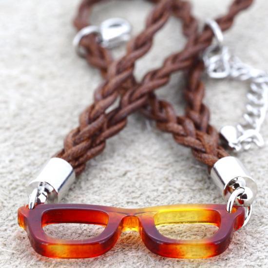 【Bonny L. / ボニーエル】 メガネ型ブレスレット ウェリントン (イエロー) | メガネモチーフアクセサリー