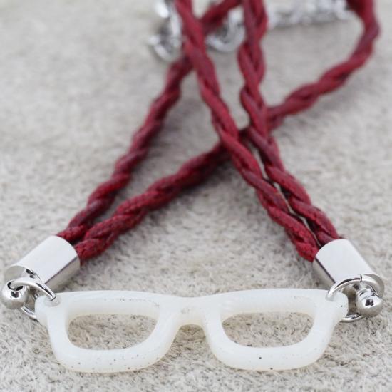 【Bonny L. / ボニーエル】 メガネ型ブレスレット ウェリントン (ホワイト) | メガネモチーフアクセサリー