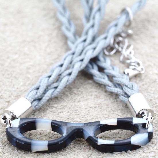 【Bonny L. / ボニーエル】 メガネ型ブレスレット フォックス (ブラック) | メガネモチーフアクセサリー