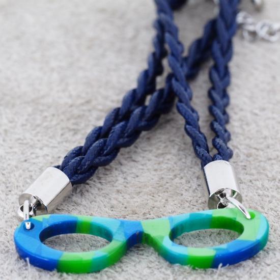 【Bonny L. / ボニーエル】 メガネ型ブレスレット フォックス (ブルー) | メガネモチーフアクセサリー