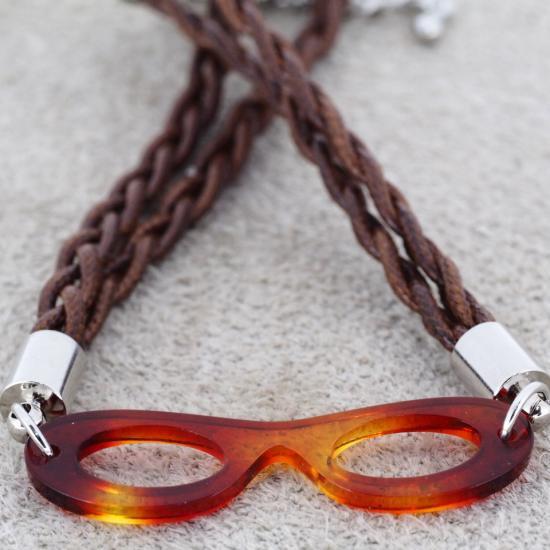 【Bonny L. / ボニーエル】 メガネ型ブレスレット フォックス (イエロー) | メガネモチーフアクセサリー