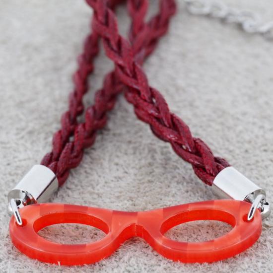 【Bonny L. / ボニーエル】 メガネ型ブレスレット フォックス (レッド)   メガネモチーフアクセサリー