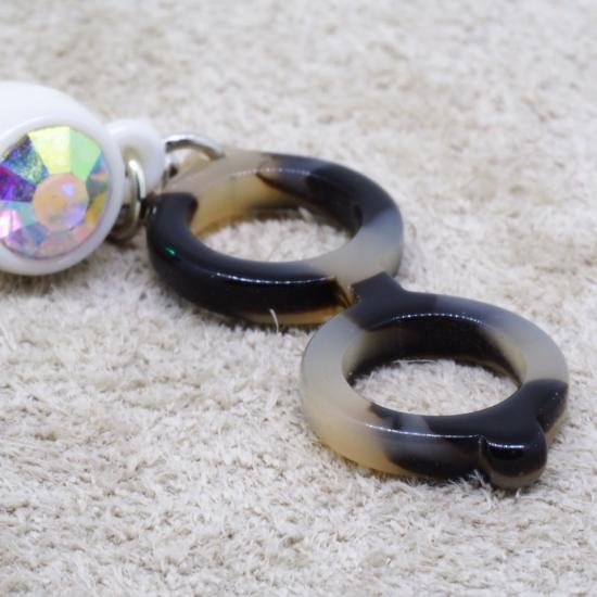 【Bonny L. / ボニーエル】 メガネ型イヤホンジャック ラウンド (ブラウン) | メガネ素材アクセサリー