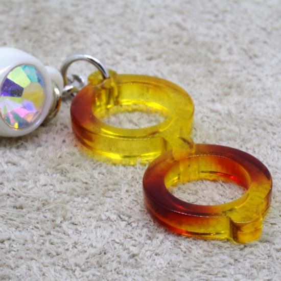 【Bonny L. / ボニーエル】 メガネ型イヤホンジャック ラウンド (イエロー) | メガネ素材アクセサリー