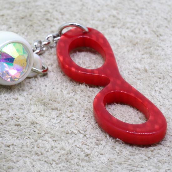 【Bonny L. / ボニーエル】 メガネ型イヤホンジャック フォックス (レッド) | メガネ素材アクセサリー