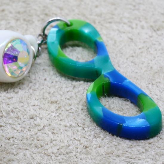 【Bonny L. / ボニーエル】 メガネ型イヤホンジャック フォックス (ブルー) | メガネ素材アクセサリー