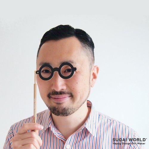 【SUGAI WORLD / スガイワールド】 変装ペン / Photo props pen (めがね) | メガネモチーフ,ボールペン