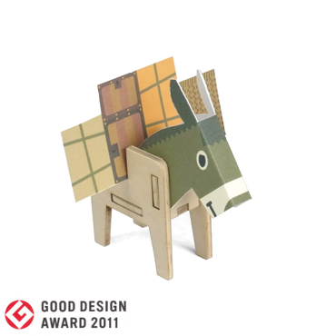 PLAY-DECO/プレイデコ [character stationery]DONKEY & PEACOCK CARDSTAND