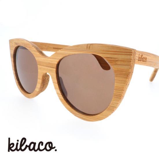 【kibaco / キバコ】 WILD AND CHIC 01 (ナチュラル)|フォックス,バンブーサングラス