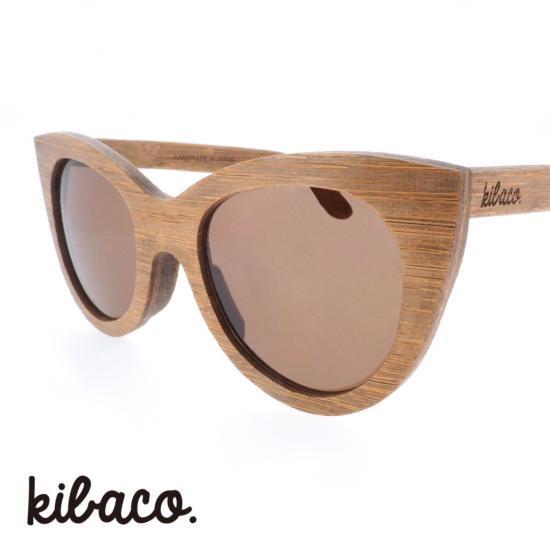 【kibaco / キバコ】 WILD AND CHIC 02 (ブラウン)|フォックス,バンブーサングラス