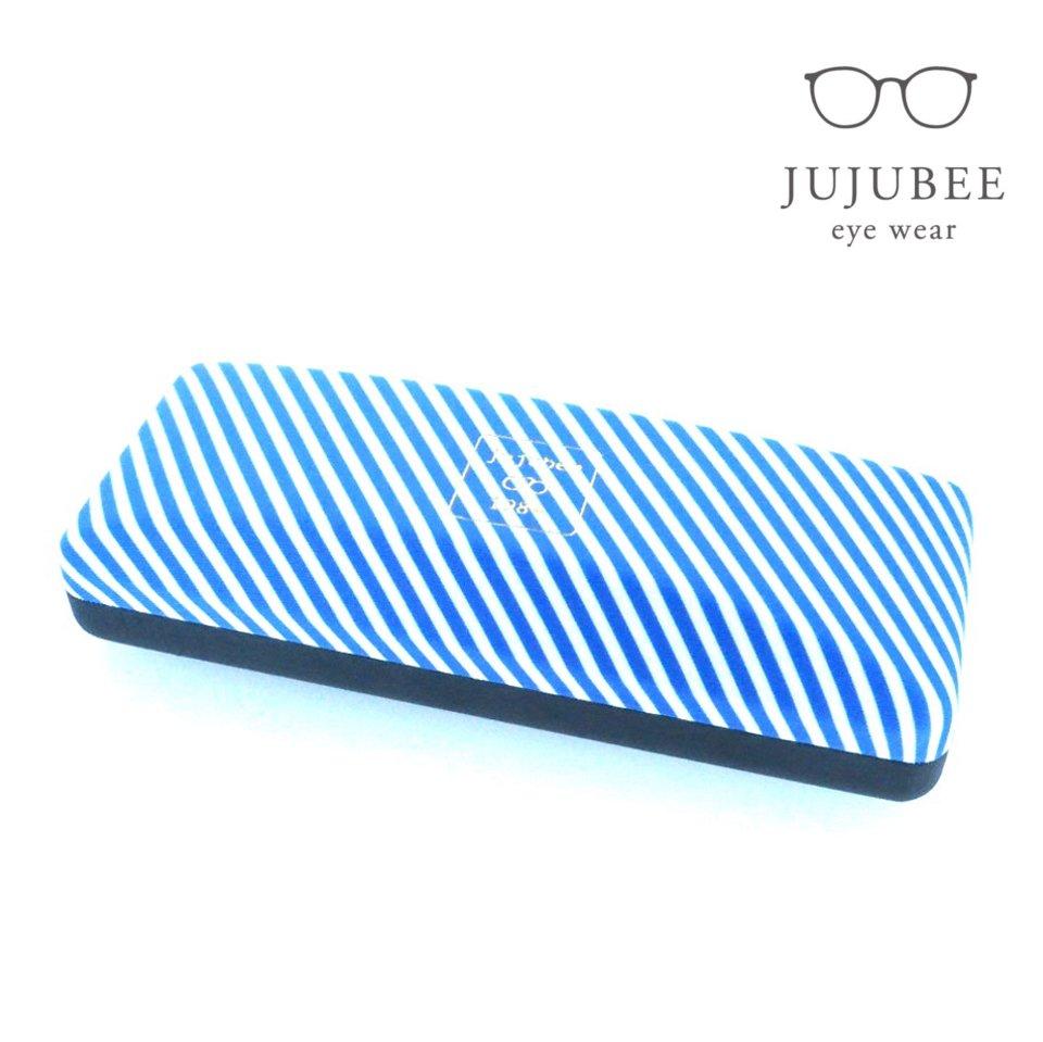 【JUJUBEE / ジュジュビー】 c・c・h レジメンタル (ブルー) | メガネケース