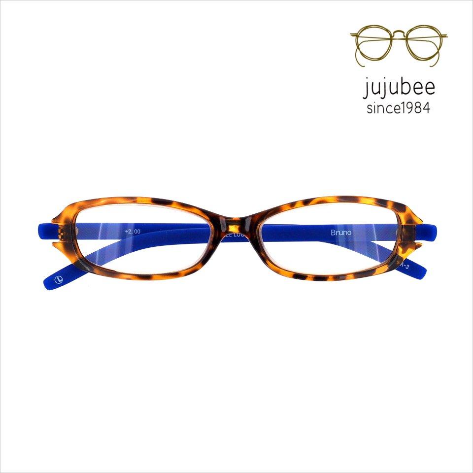 【JUJUBEE / ジュジュビー】 LOUGAN'S Bruno / ローガンズ・ブルーノ (デミ・ブルー)|既成老眼鏡,リーディンググ…