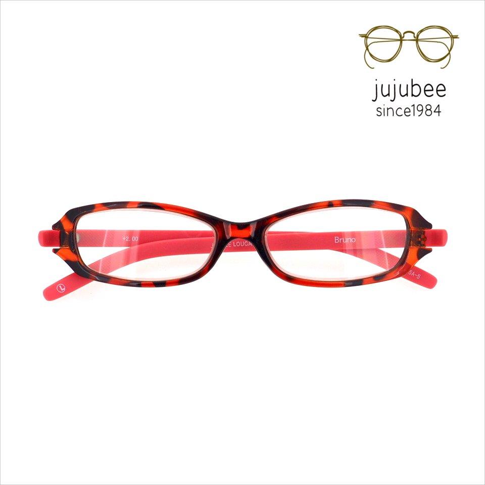 【JUJUBEE / ジュジュビー】 LOUGAN'S Bruno / ローガンズ・ブルーノ (デミ・ピンク)|既成老眼鏡,リーディンググラ…