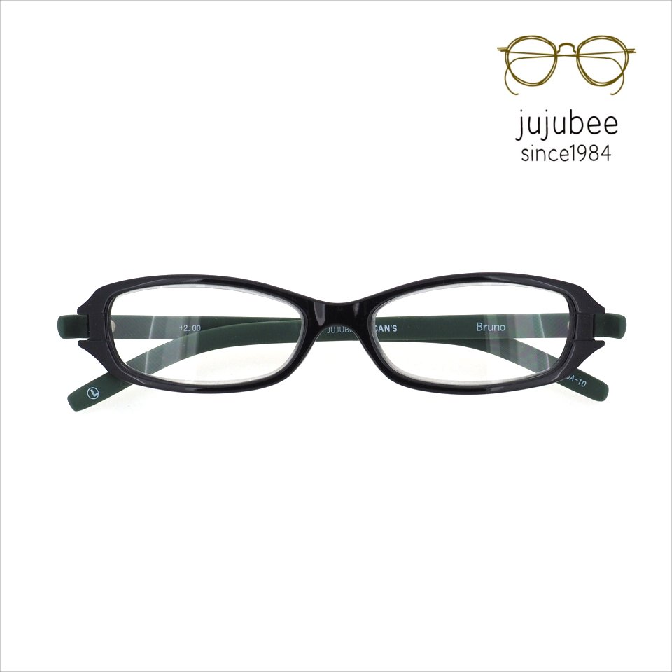 【JUJUBEE / ジュジュビー】 LOUGAN'S Bruno / ローガンズ・ブルーノ (ボトルグリーン)|既成老眼鏡,リーディンググ…