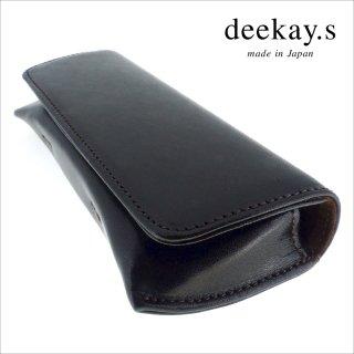 【deekay.s / ディーケイエス】 マグネットフラップケース プレーン (ブラック)|レザーメガネケース