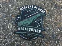 """<img class='new_mark_img1' src='https://img.shop-pro.jp/img/new/icons5.gif' style='border:none;display:inline;margin:0px;padding:0px;width:auto;' /> WCZ """"Weapons of Bass DESTRUCTION Sticker"""